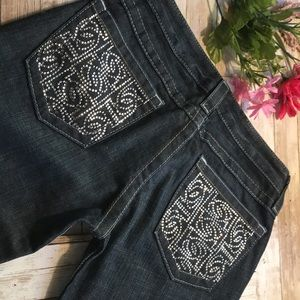 Bebe jeans dark wash size 27. in good condition